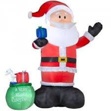 Large Inflatable Christmas Decorations by Giant Inflatable Santa Thereviewsquad Com