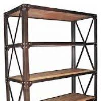 Industrial Bookcases Iron Bookcase Wood Shelves Thesecretconsul Com