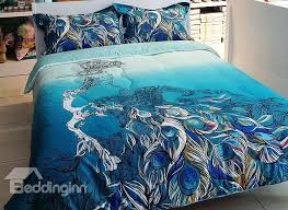 Peacock Feather Comforter Highland Feather Vienna Duvet Cover 100 Cotton Fabric Feather