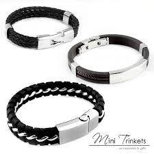silver chain bracelet ebay images Ebay mens bracelets alert bracelet jpg
