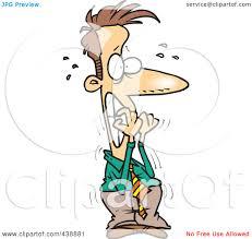 royalty free rf clip art illustration of a cartoon nervous