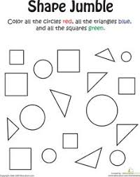 color by shape train shape worksheets and shapes