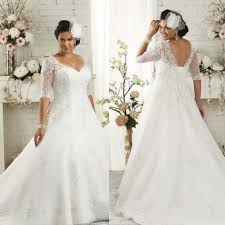 discount plus size wedding dresses discount plus size wedding dress lace up half sleeves wedding gown