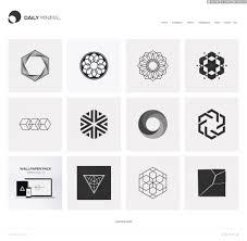 vivid u0026 minimalistic iconography by daily minimal