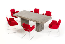 modrest saber modern concrete dining table vig furniture modern