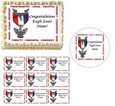 eagle scout cake topper eagle scout edible party images