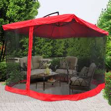 patio umbrella stand side table square offset patio umbrella with netting patio outdoor decoration