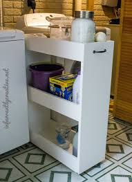 Laundry Room Storage Cart Slim Rolling Laundry Room Storage Cart Free Diy Plan Storage