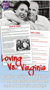 Citizenship In The Nation Merit Badge Worksheet Answers Loving V Virginia Civil Rights Supreme Court Case Reading