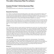 student business plan examples template executive summary sample