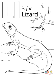 letter l is for lizard coloring page free printable coloring pages