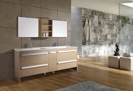 Designs For Bathrooms Bathroom Rectangle Brown Wooden Open Shelf And Vanity With White