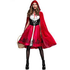 Red Riding Hood Costume Cosplay Little Red Riding Hood Costume Fairy Tales Women Costume