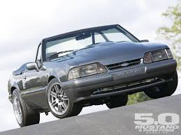 1985 Mustang Convertible 91 Fox Body Convertable With A Mild Looking Raised Hood Cool