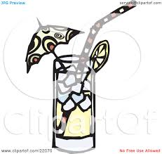 martini glass with umbrella clipart picture of a straw and umbrella in an icy glass of