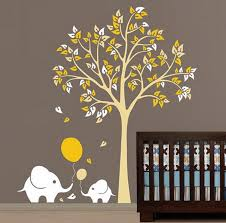 Nursery Tree Wall Decal 2 Elephant Ballon Tree Nursery Baby Wall Decals Sticker