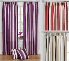 Pencil Pleat Curtain Tape Striped Modern Pair Of Tape Top Fully Lined Ready Made Curtains