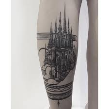 black castle tattoo by thieves of tower