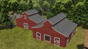 Large Barn Colonial Houses V1 53 Fix Banished Mods