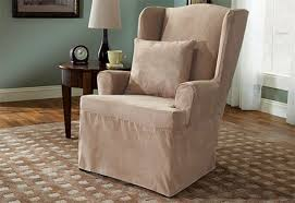 cool sure fit wing chair slipcover with sure fit slipcovers