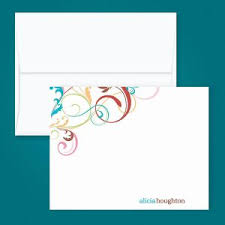 personalized correspondence cards colorful images
