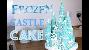Halloween Castle Cake by How To Make A Frozen Princess Cake Castle Carlytoffle Youtube