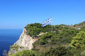 Greek Flag Background File The Biggest Greek Flag U2013 Keri Zakynthos Greece 01 Jpg