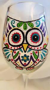 owl gift stemless wine glass unique owl gift custom wine glass