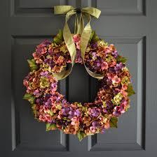 front door wreath ideas beautiful wreaths blended hydrangea wreath summer wreaths