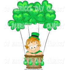 clip art of a cute leprechaun toddler boy in a st patricks day