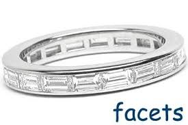 baguette diamond band platinum channel set eternity band 18 horizontal baguette