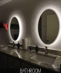 vanity lights over round mirror hanging cylinder vanity lights
