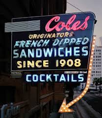 halloween bar signs cole u0027s the originator of the french dip sandwich