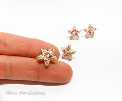 polymer clay stud earrings christmas miniature food jewelry handmade polymer clay