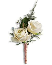 white boutonniere blissful white boutonniere teleflora