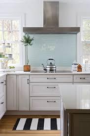 White Kitchen Glass Backsplash Glass Backsplashes For Kitchens Visionexchange Co