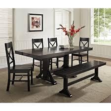 Black Wood Dining Table Black Wood Dining Room Set Unique We Furniture Solid Wood Black