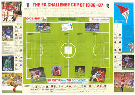 up for the cup 1987 the football attic the wallchart was an invitation to indulge in and engage with the world s oldest football competition as each round of matches were played your job was to