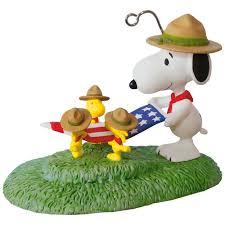 peanuts snoopy flag folding ceremony ornament keepsake