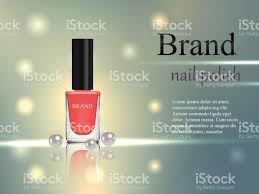 design of cosmetics beige nail polish with pearls on a gentle