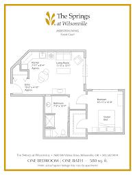 bathroom floor plans 5 x 10 senior apartment floor plans the springs at wilsonville