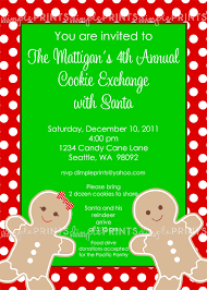 free printable cookie exchange invitations free printable