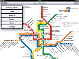 Washington Metro Map by Washington Metro Application For Ipad