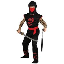 halloween party fun boys muscle chest japanese ninja warrior halloween party fun fancy
