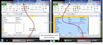 how to view excel 2010 spreadsheets side by side for comparison