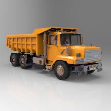 dump truck dump truck 3d model cgtrader