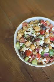 mediterranean chickpea salad dashing dish