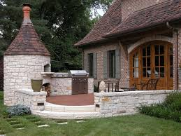 arched door backdoor bbq brick house brick oven fire oven french