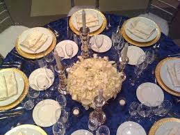 blue and gold decoration ideas navy blue and gold wedding decoration ideas sang maestro
