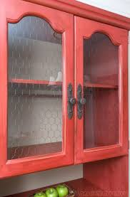 how to put chicken wire on cabinet doors fall struck and a red chicken wire hutch salvaged inspirations